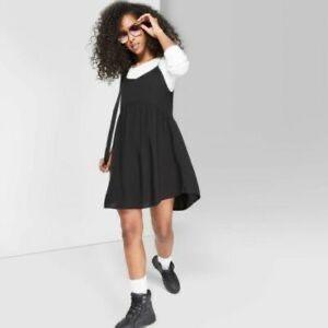 Wild Fable black tiered sleeveless dress